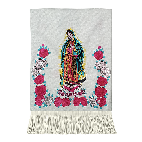 Pashmina 19MN03-14 Virgen Azul Al Por Mayor
