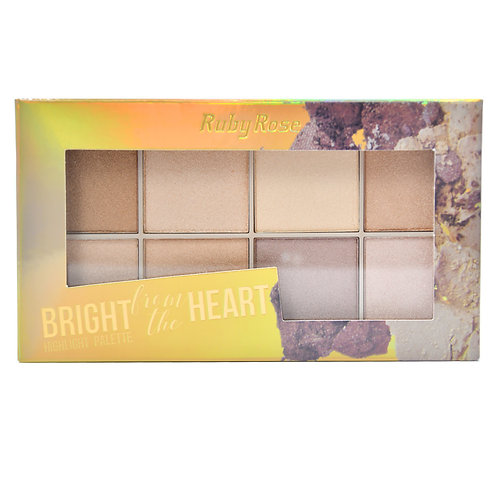 Paleta De Iluminador Bright From The Heart Ruby Rose