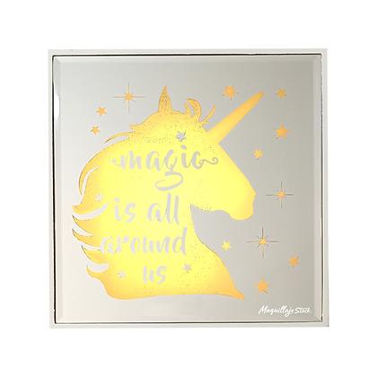 Cuadro Espejo Unicornio con Luz(LA-9560) Al Por Mayor