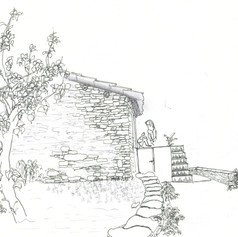 Sketch of a typical Kumaoni house