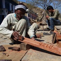 Gangaram-ji working on the Jharokha-I