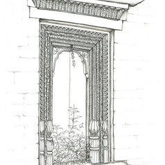 Sketch of a Likhai Jharokha