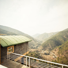 Structures overlooking the Ramgarh valley