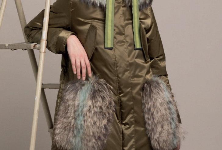 Парка с мехом енота Alessandra Chamonix