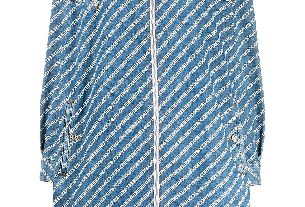 Джинсовое платье-рубашка Diesel