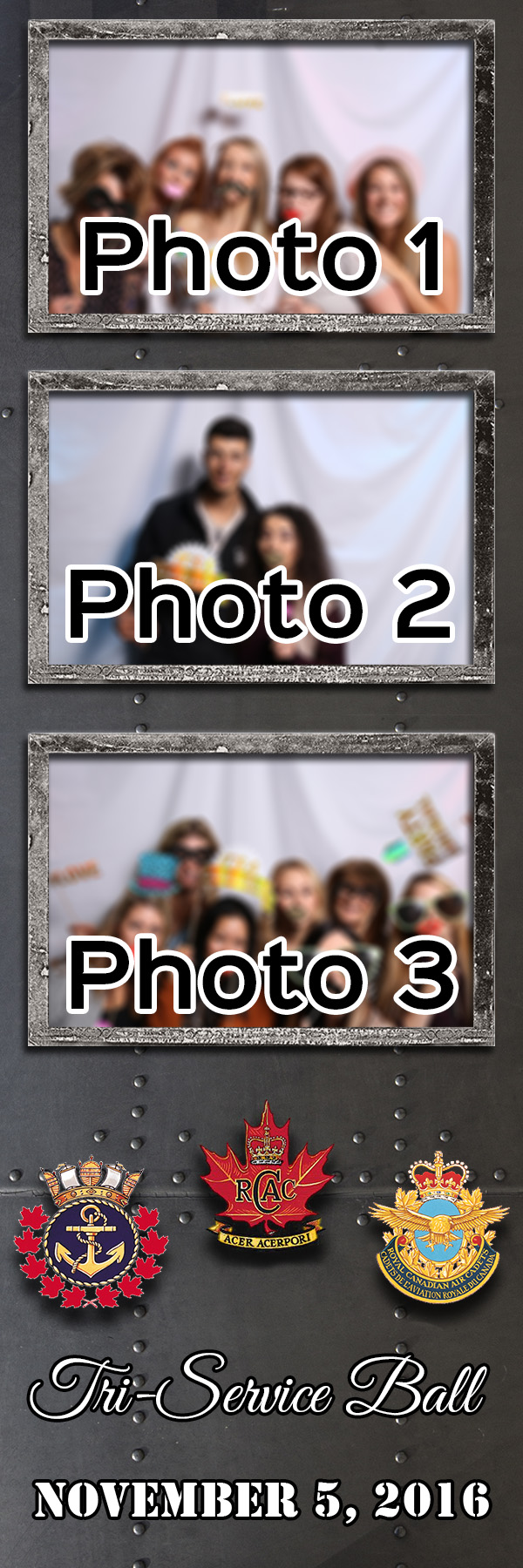 Metal 2x6 3 photo template