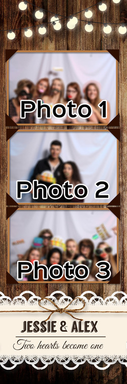Rustic 2x6 - 3 Picture Template