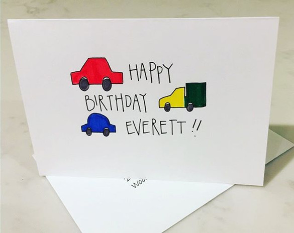 Little birthday card for my tiny boyfrie