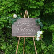 kate + kelton welcome 20x30