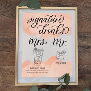 signature drinks watercolor