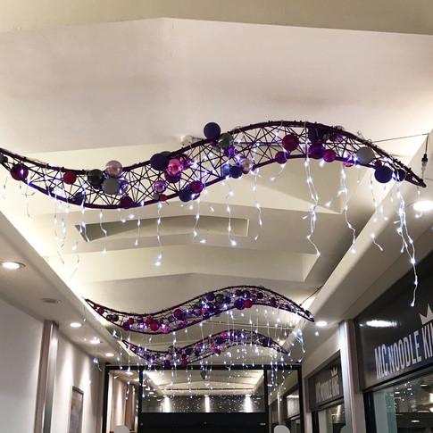 Contemporary on brand festive decorations