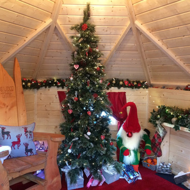 Santa's swiss style chalet grotto