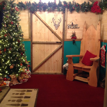 Santa's welcoming warm and cosy grotto