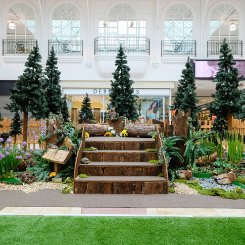 The Gruffalo story telling set for summer shopping centre events.