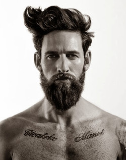 beard men style cool tattoos handsome naked hot sexy man haircut