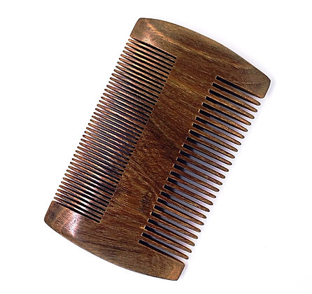 DOUBLE-SIDED BEARD COMB - SOLID WOOD