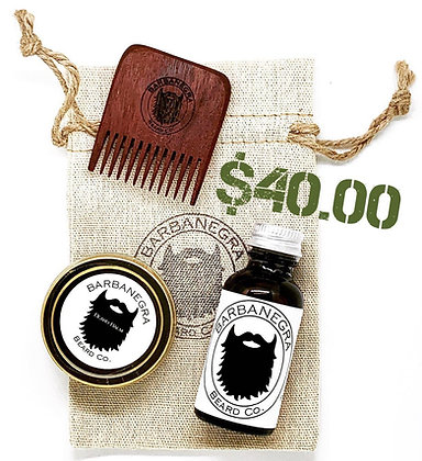 BEARD STARTER KIT - CHOOSE SCENT