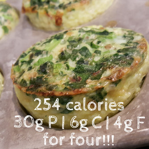 Easy Breakfast Egg Muffins - high protein, low carb and low fat