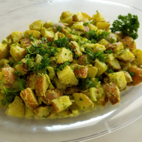 Healthy and Low-Fat Potato Salad - perfect for potlucks, picnics, and family dinner