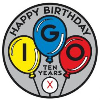 IGO 10th Birthday Pathtag, Gray