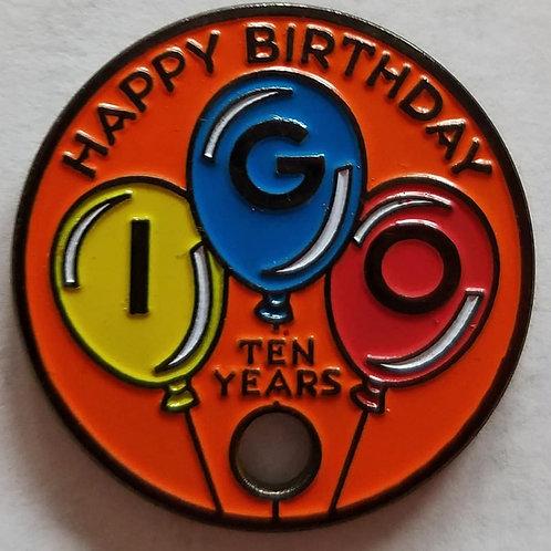 IGO 10th Birthday Pathtag, Orange