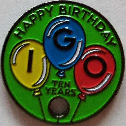 IGO 10th Birthday Pathtag, Green