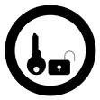 key-and-lock-icon-black-color-in-circle-