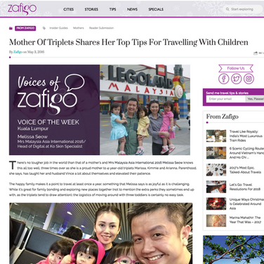 Zafigo 3 May 16 - Mother Of Triplets Shares Her Top Tips For Travelling With Children
