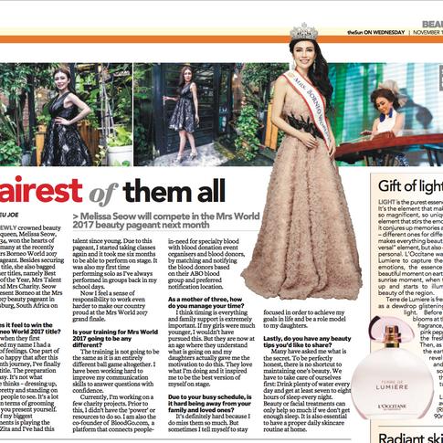 The Sun Daily 15 Nov 17 - Fairest of them all