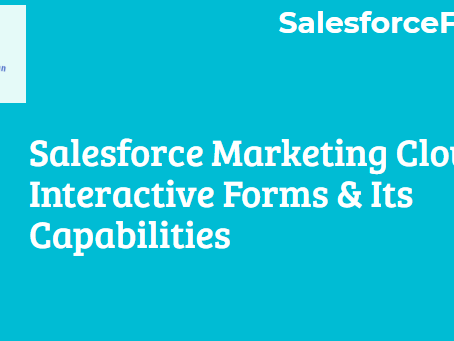 Salesforce Marketing Cloud Interactive Forms And Its Capabilities