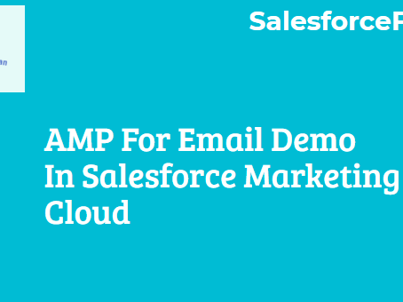 AMP For Email Demo in Salesforce Marketing Cloud