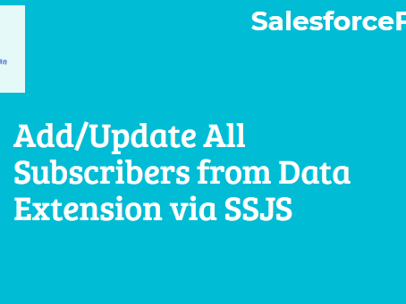 Add/Update All Subscribers from Data Extension via SSJS