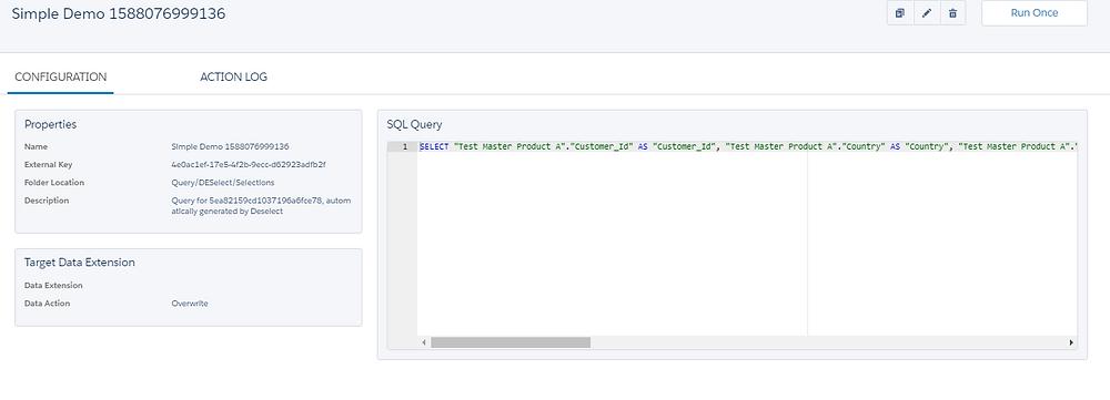 DESelect SQL Query