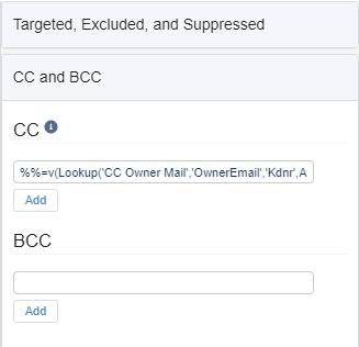 CC BCC Using Ampscript