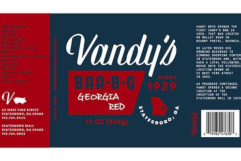 Vandy's Georgia Red BBQ Sauce