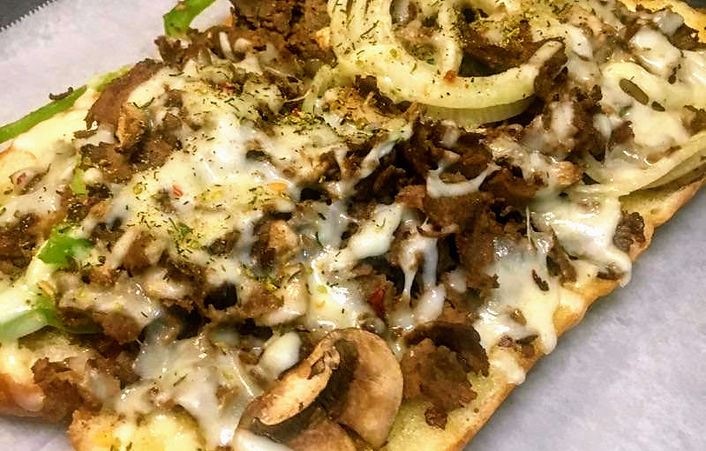 Holiday Pizza Steak & Cheese Grinder, Hoagie Sandwich
