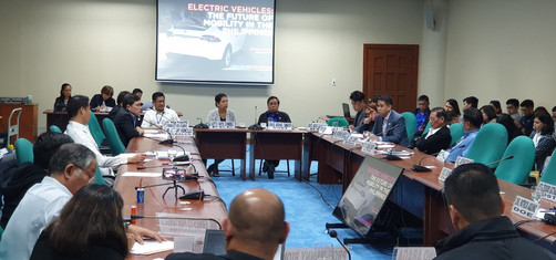 """eVAP Participates in the Senate Public Hearing :Senate Bill no.174"""" an Act Providing then National Energy Policy and the regulatory framwork for the use of EV and establishing charging stations.#GOEV"""