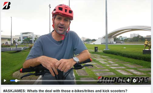 #ASKJAMES: Whats the deal with those e-bikes/trikes and kick scooters?