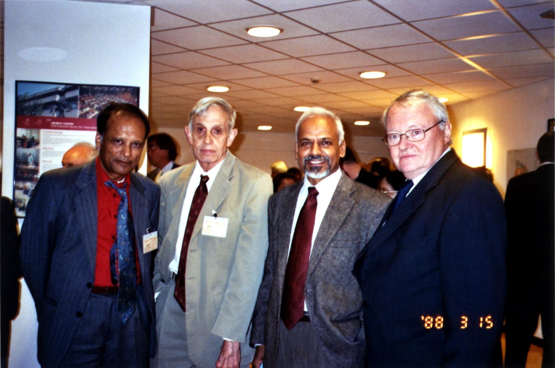 Prabir Dasgupta, John Nash, K.R. Sreenivasan and Karl-Goran Maler