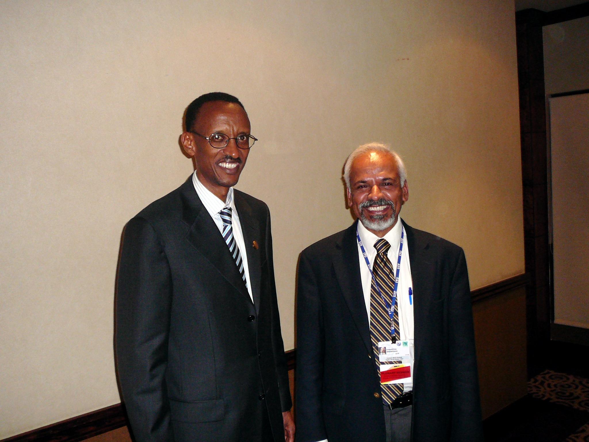 President of Rwanda Paul Kagame and K.R. Sreenivasan
