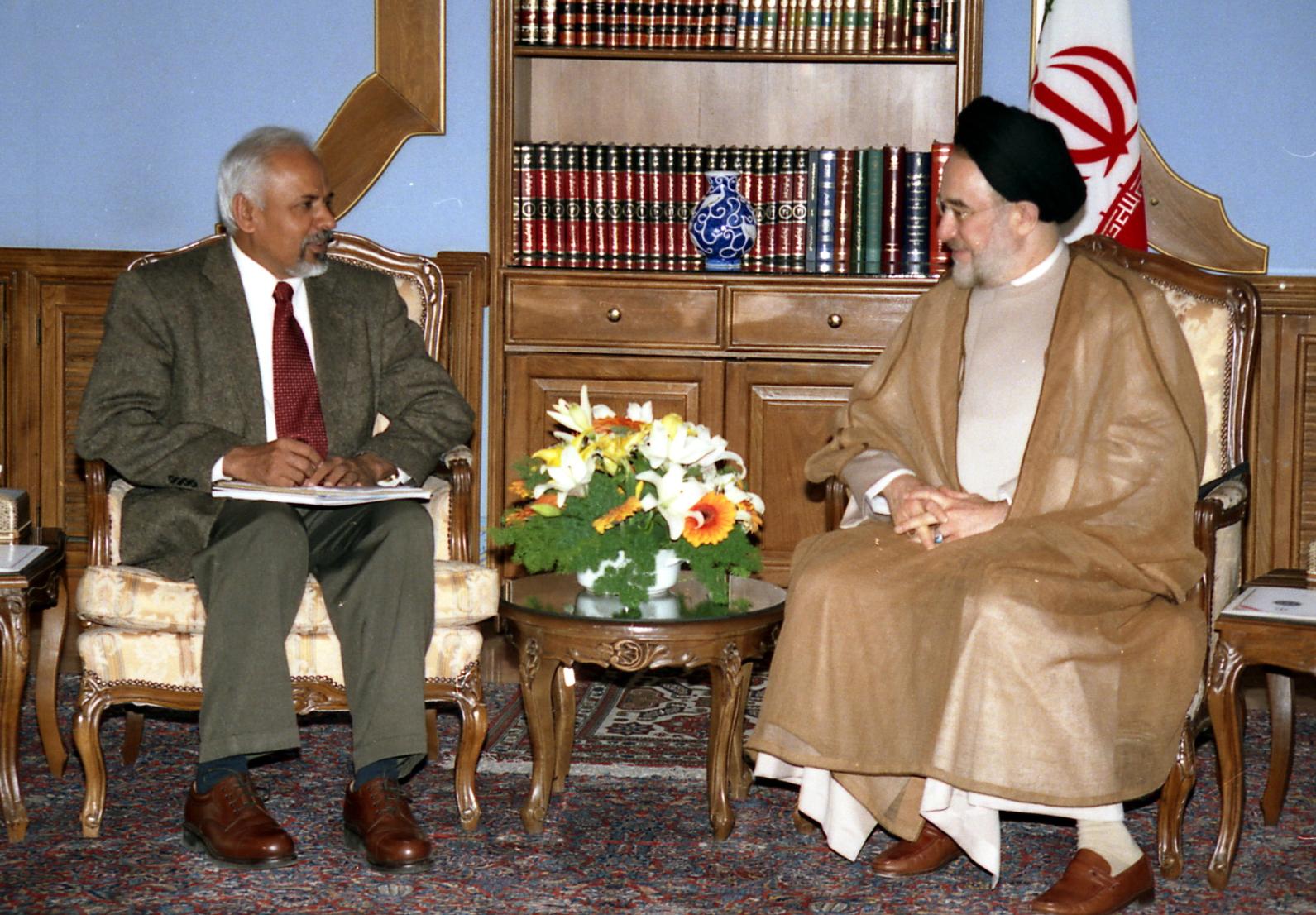 K.R. Sreenivasan and Mohammad Khatami, President of Iran
