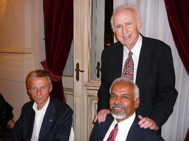 Riccardo Illy, Governor of the Regione Friuli-Venezia Giulia, K.R. Sreenivasan and Nobel Laureate Ma