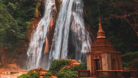 Pagoda Waterfalls - Myanmar