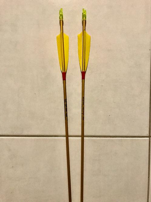 Easton Neos 16/18 Aluminium Arrows x 6 ( inc postage)