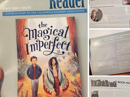 The Magical Imperfect is the featured book on the Cover of The CALIFORNIA READER!