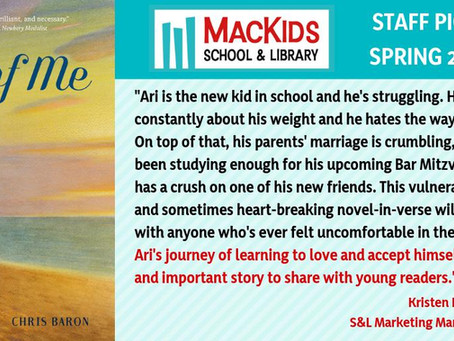 ALL OF ME is a MACKIDS School & Library Staff Pick!
