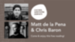 Matt de la Pena & Chris Baron Web Banner