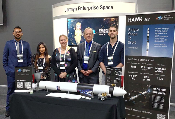 Gorup photo of the JES Team at the 11th Australian Space Forum