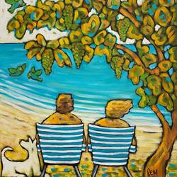 Us Three Under a Seagrape Tree #3