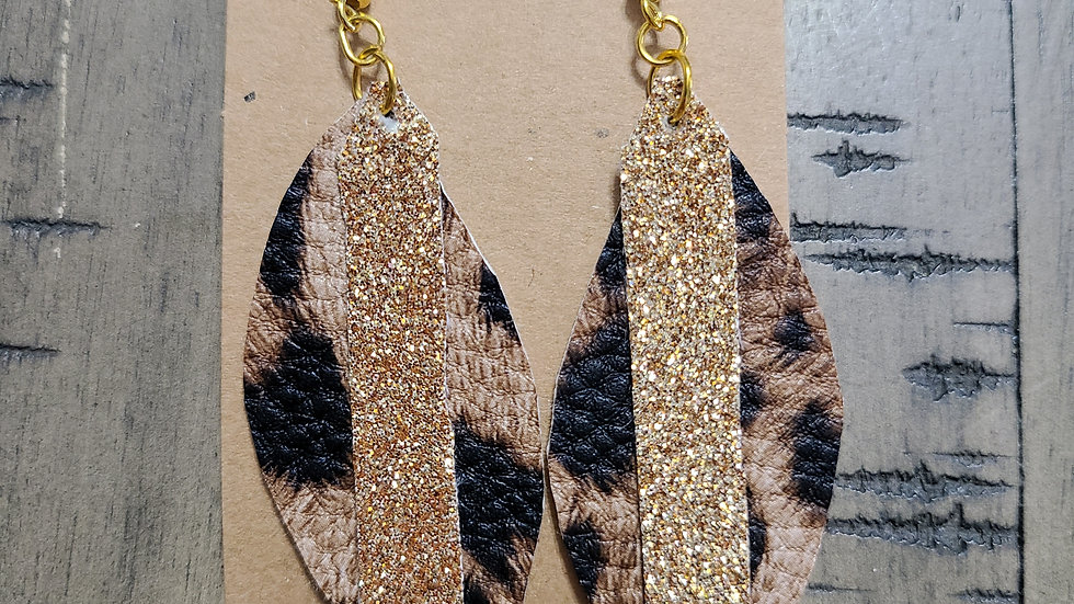 Leopard/Gold Sparkle